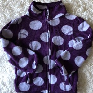 Old Navy girls polka dot fleece jacket